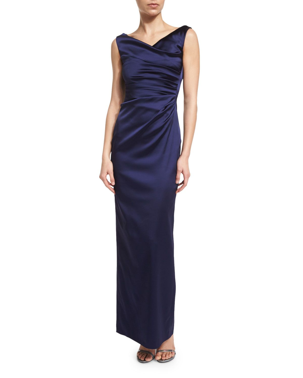 Colly sleeveless ruched column gown royal navy products
