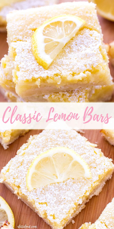 Diese klassischen Zitronenriegel haben eine würzige Zitronenfüllung und eine süße …