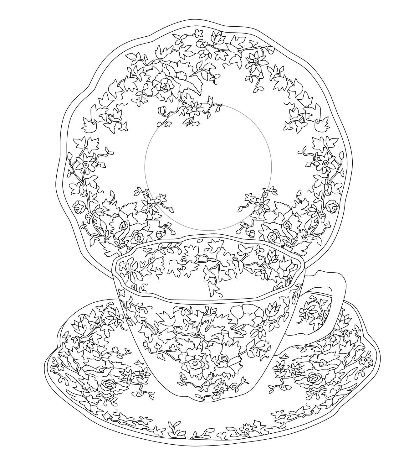 Elegant Tea Party Coloring Book | Coloring books, Tea parties and Teas