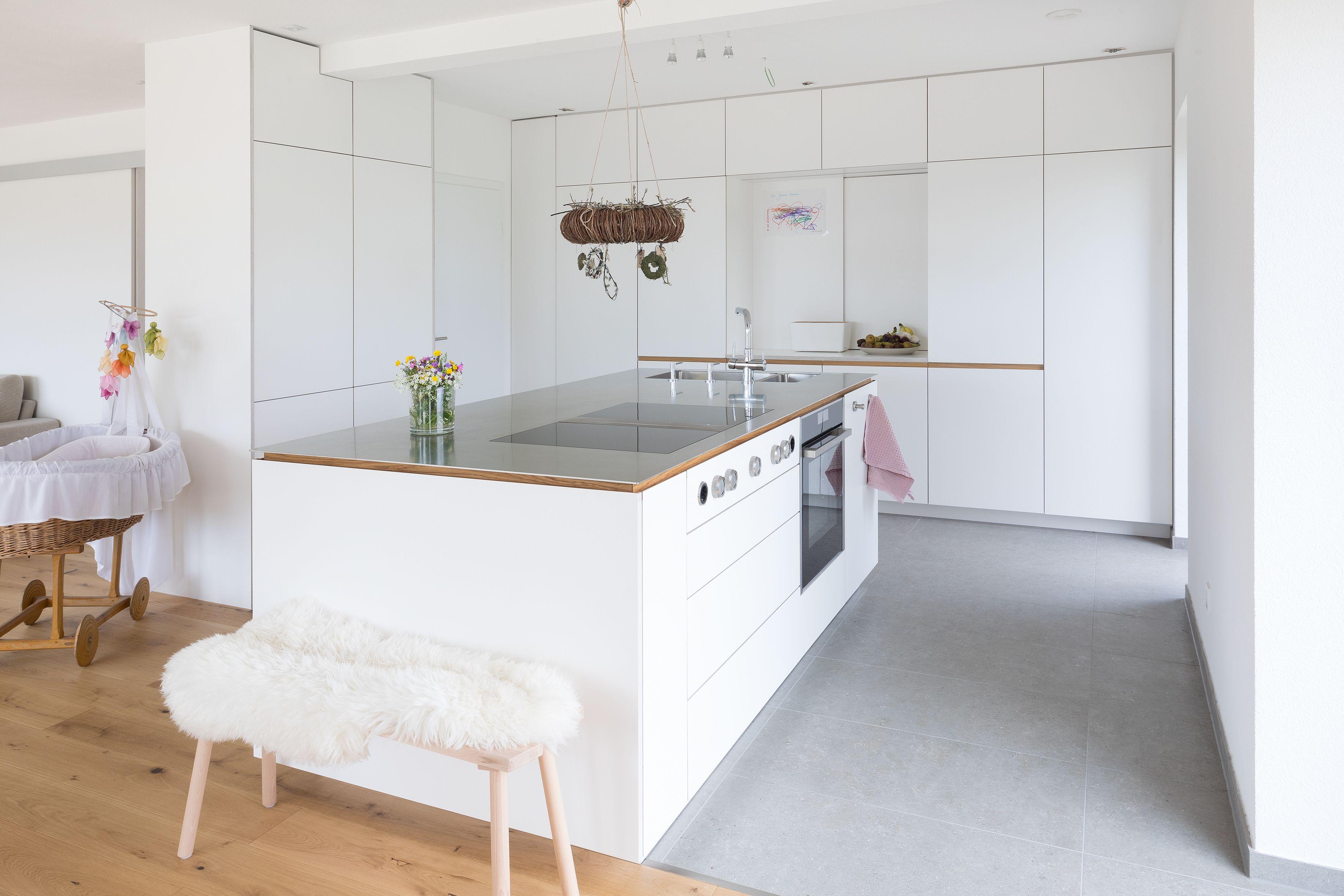 Küchenblock  Moderne Küche  Weiße Küche  Schreinerküche