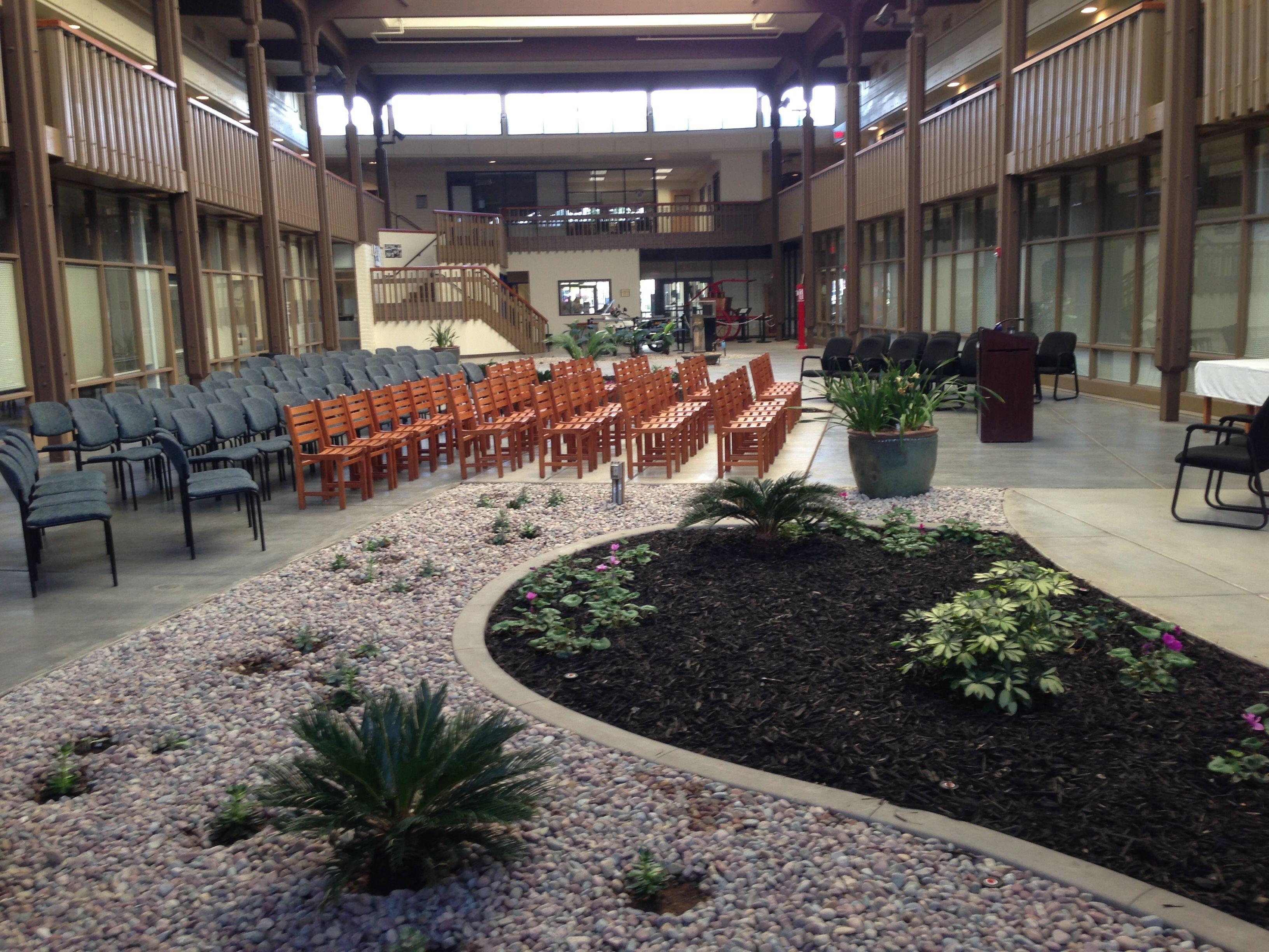 Sacramento Public Safety Center Atrium, all ready for the