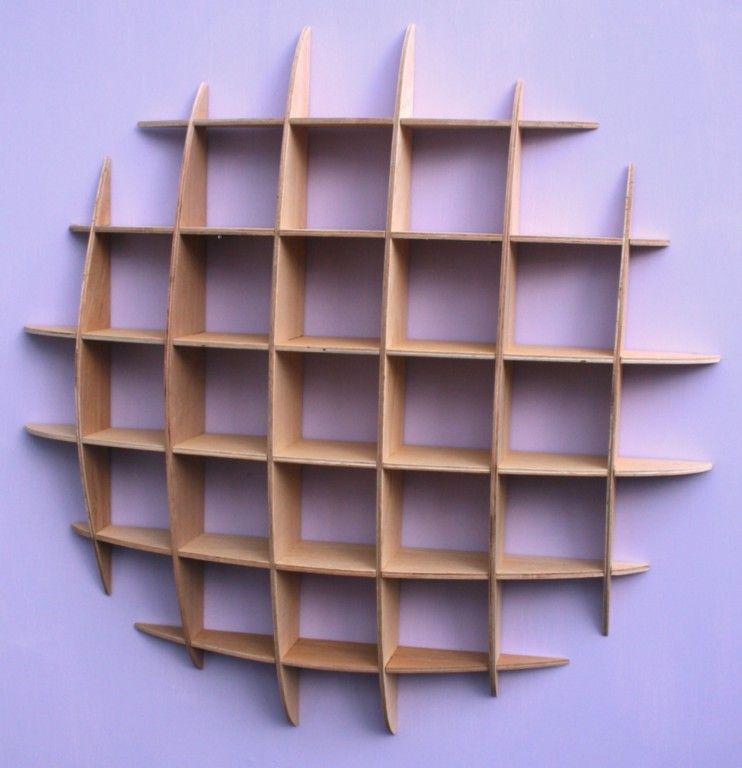 Bon DVD / CD Storage Rack Wall Mounted Unit Retro Style Shelving