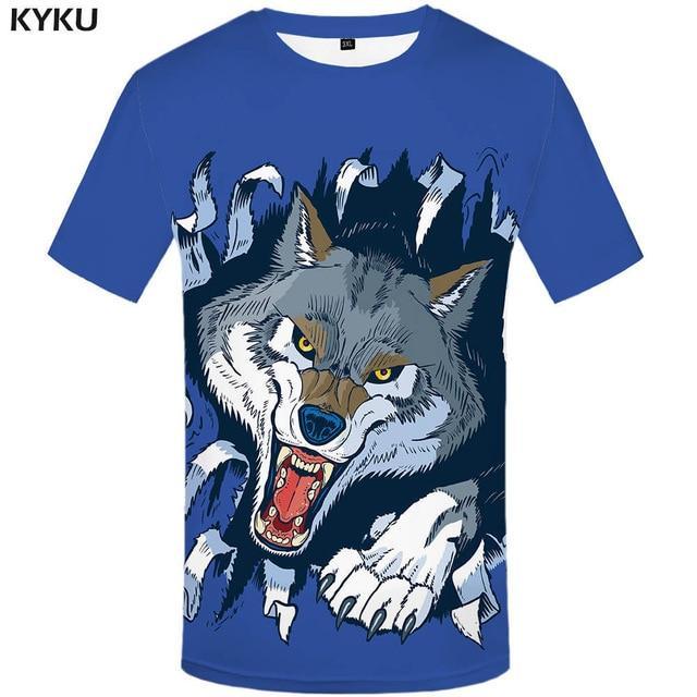 Photo of KYKU Brand Motorcycle T Shirt Punk T-shirt Knight Shirts 3d T Shirt Men Casual Rock Vintage Hip Hop Summer Tee Top Homme Clothes – 3d t shirt 02 / S