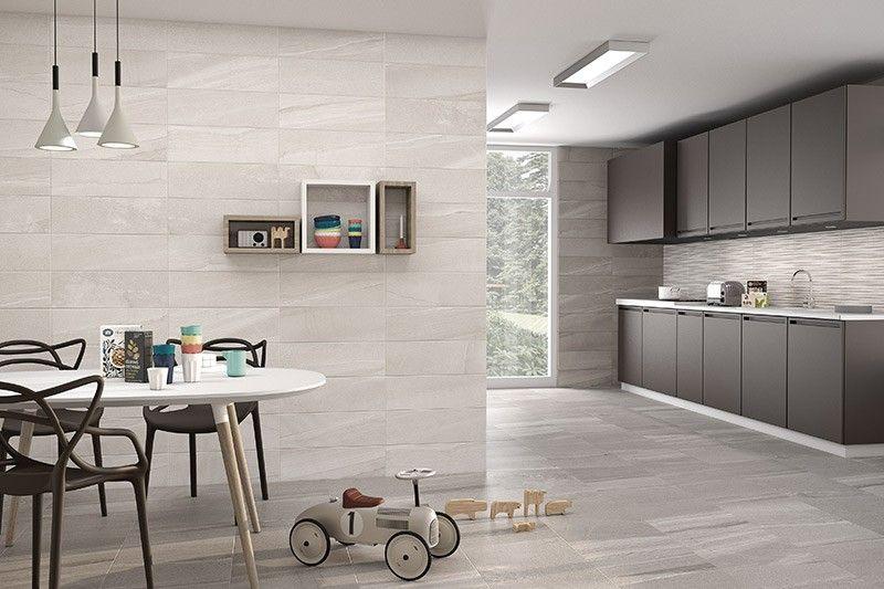 Sediment Stone Grey Wall Tile 20x60cm | Grey wall tiles ...