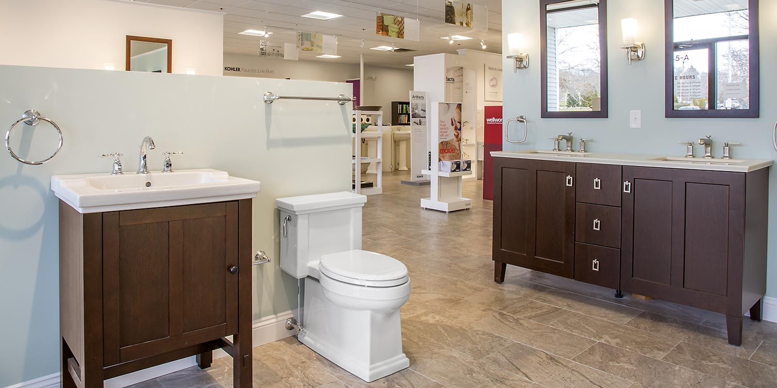 The Inspired Bath Bath And Kitchen Products Showrooms In Dartmouth Massachusetts And Middletown Rhode Kohler Showroom Bathroom Mirror Framed Bathroom Mirror