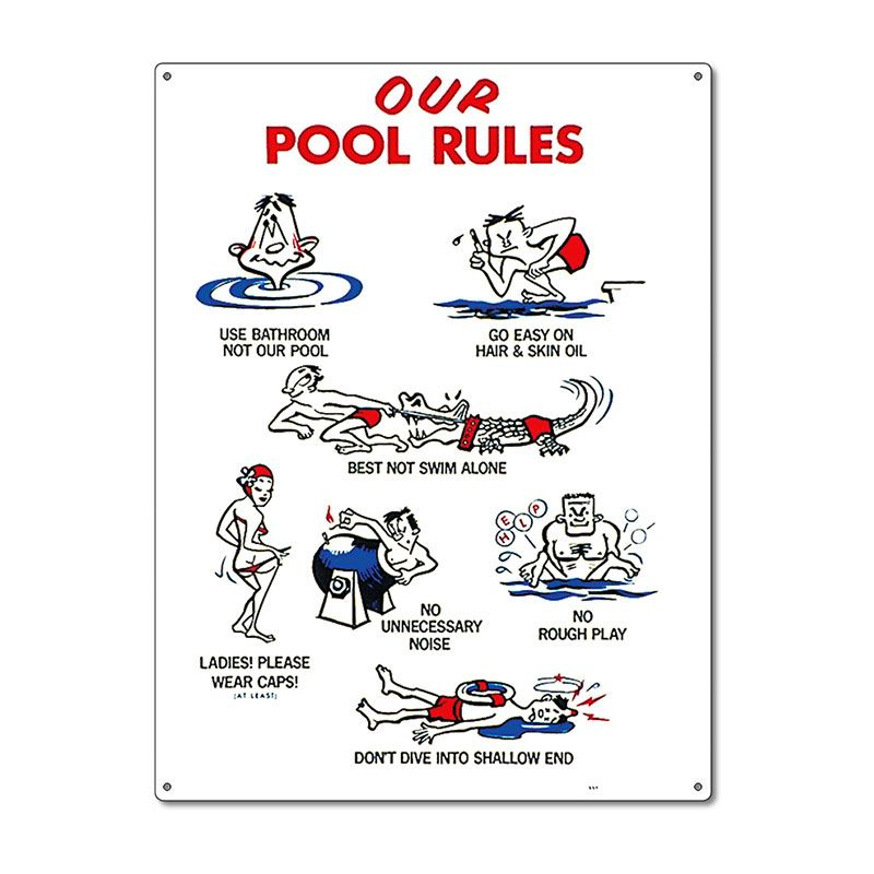Poolmaster our pool rules pool sign in 2019 pool pool - Rules and regulations of swimming pool ...