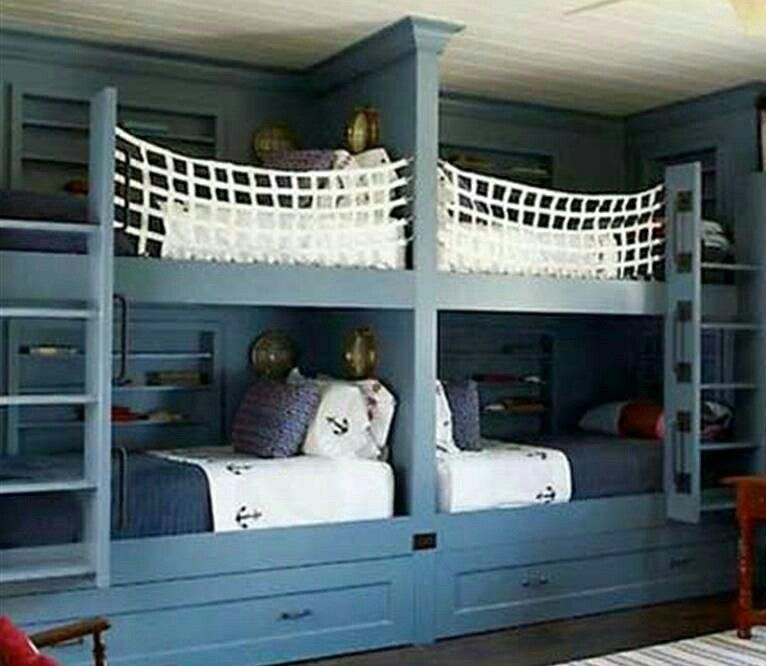 Nautical Bunk Beds Bunk Beds Built In Bunk Bed Rooms