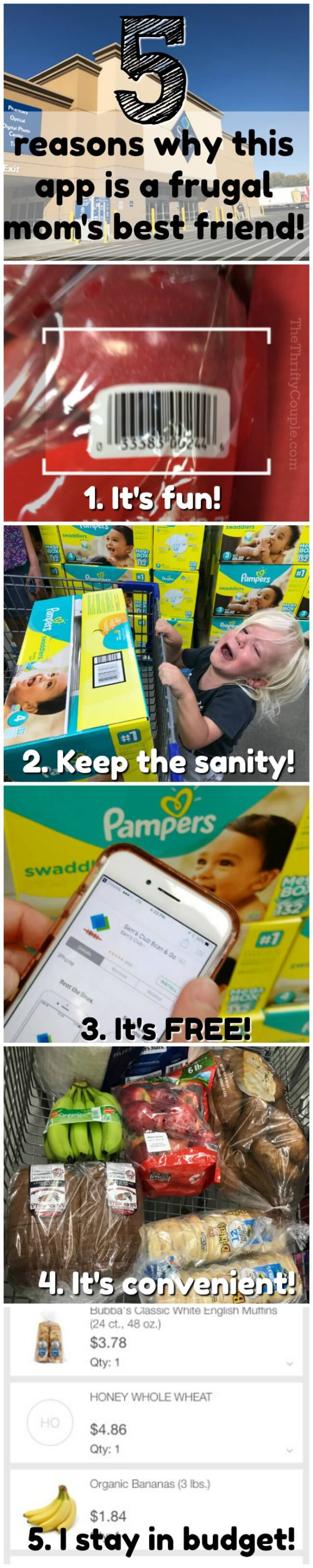 5 Reasons Why The Sam's Club Scan and Go App is a Frugal
