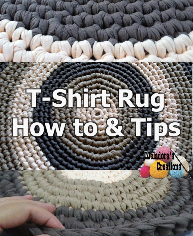 T shirt Rug How To and Tips - free crochet pattern plus Left & Right ...