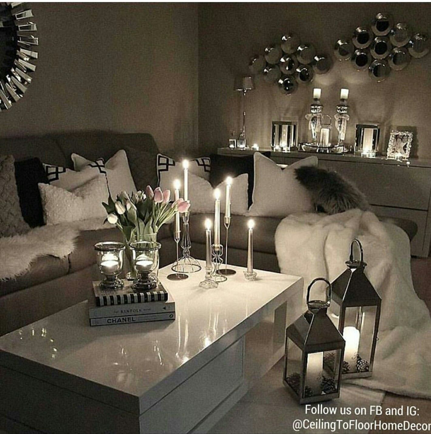 My Woman Cave Too Cute Elegant Living Room Contemporary