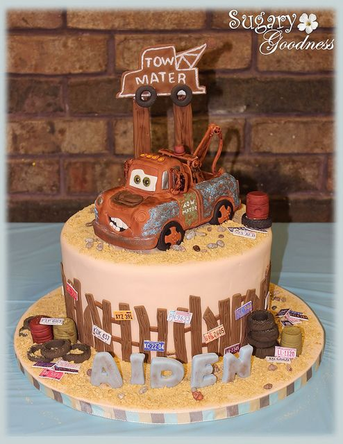 Enjoyable Aidens 3Rd Birthday Tow Mater With Images Mater Cake Cake Funny Birthday Cards Online Alyptdamsfinfo