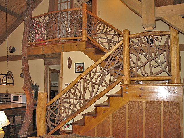 Escalera rústica casitas de maderas Pinterest Escaleras - escaleras de madera rusticas