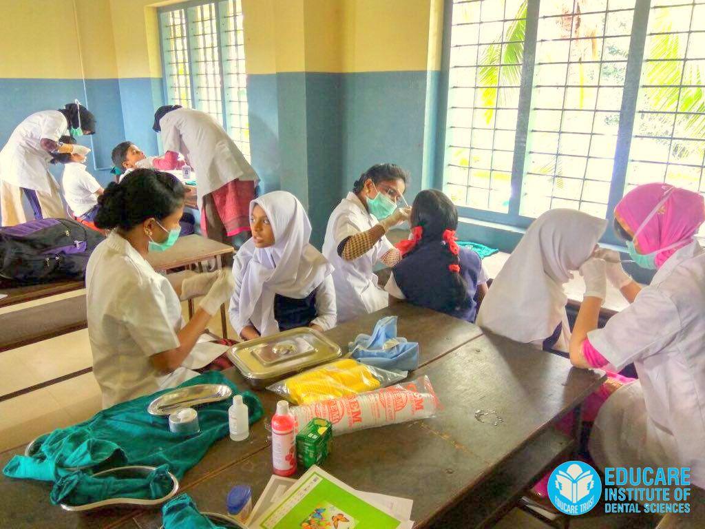 Dental camp at PES Kovilakom school, Parappanangadi