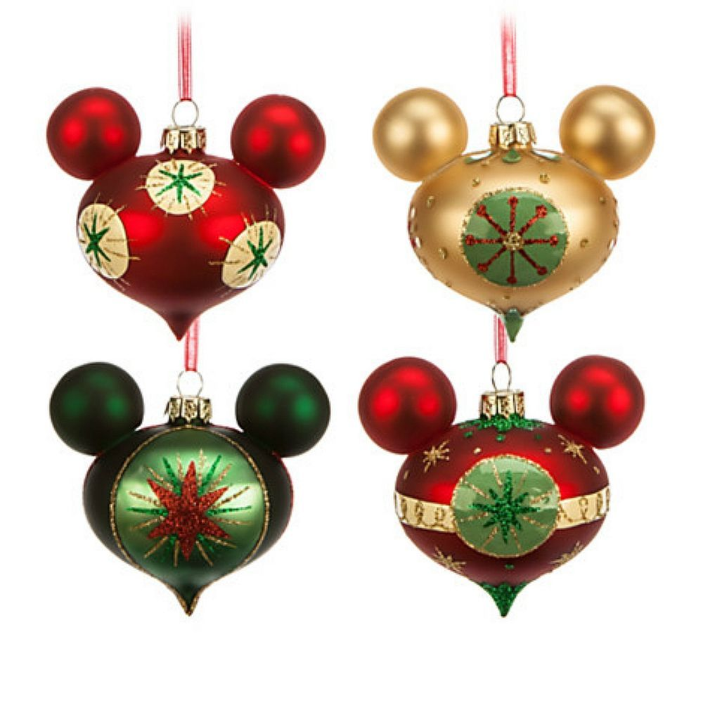 Mickey Mouse Icon Retro Ornaments Set Of 4 Christmas Holidays Disney Parks New In Home Disney Christmas Tree Disney Christmas Ornaments Christmas Ornament Sets