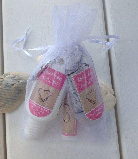 Wedding Favors Sunscreen Lip Balm Hand Sanitizer Water Bottle Labels Pkg
