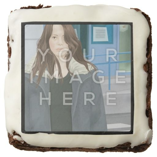Add Instagram Photo Personalized Custom Brownies #zazzle #colorbindery #giftideas #coolproducts #productoftheweek #custombrownies #brownies #customcakes #photocakes #photobrownies