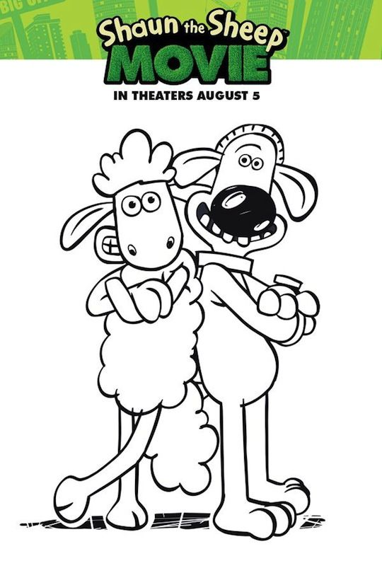 Shaun the Sheep Movie Printable Activities and Coloring Pages ...