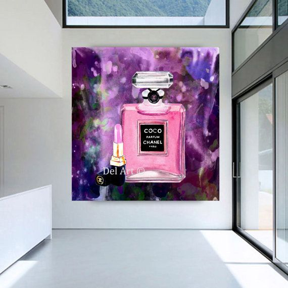 Chanel digital art Chanel Art print chanel by HeartArtGallery