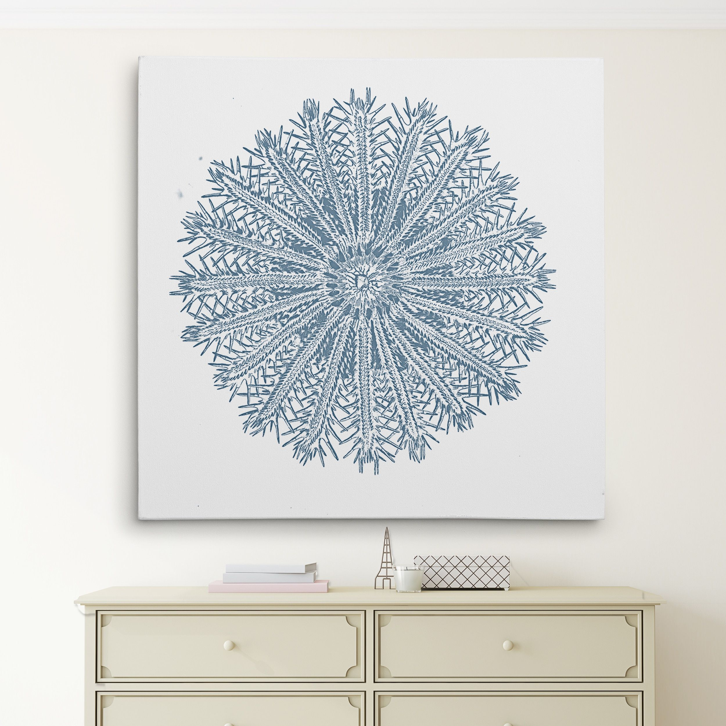 Wexford home ucoral sketch blue ivu wall art x products in