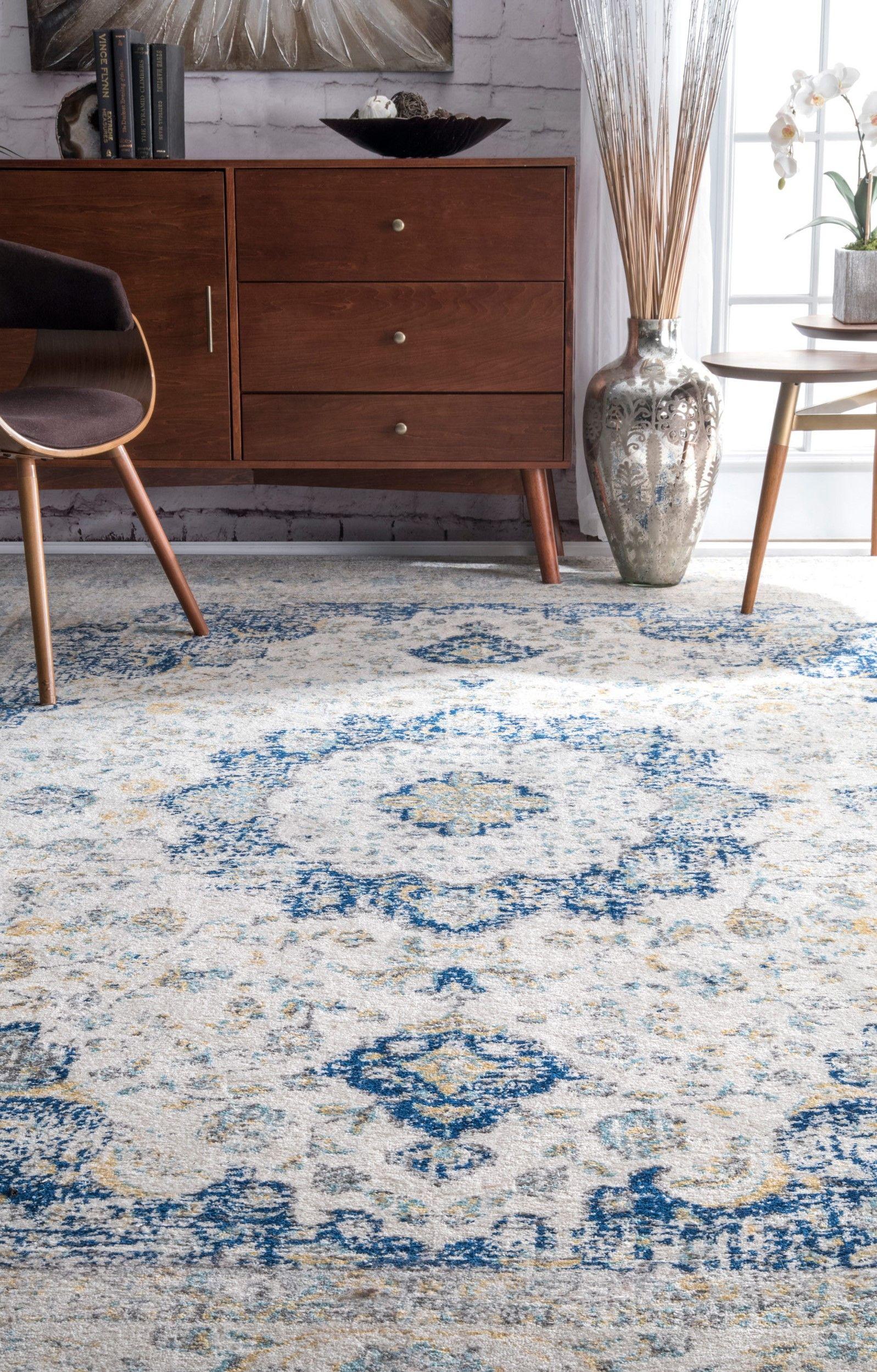 Teppich Emely In Blau Grau Teppich Blau Grau Teppich Wohnzimmer