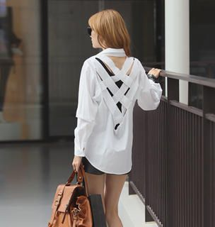 Buy 'REDOPIN – Cutaway-Back Shirt' at YesStyle.com plus more South Korea items and get Free International Shipping on qualifying orders.