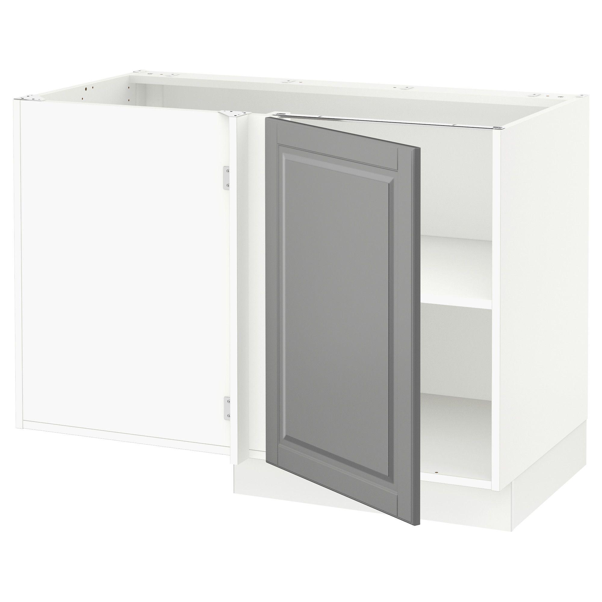 Best Ikea Sektion White Corner Base Cabinet With Shelf Frame 400 x 300