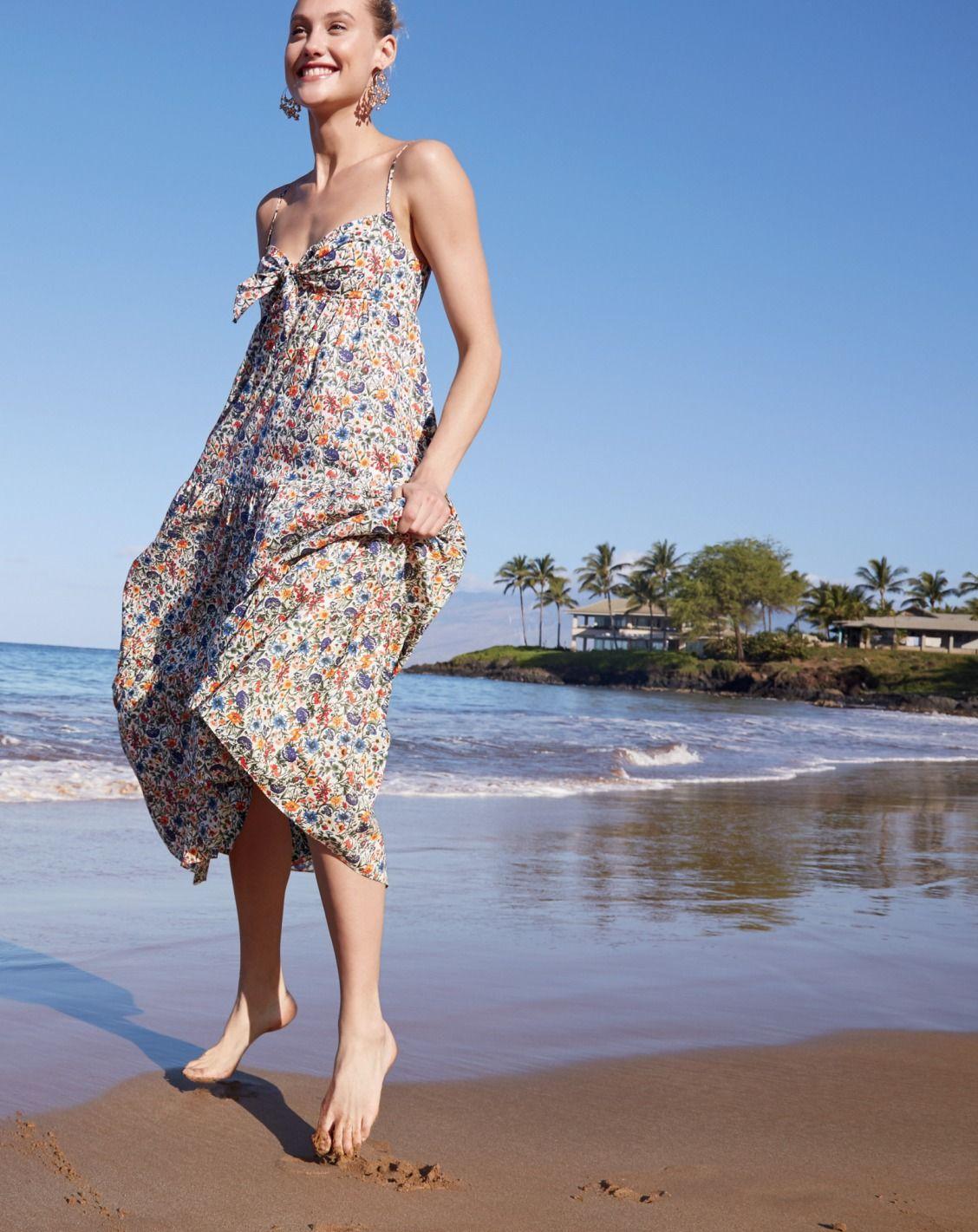 79275dff38 Tie-front dress in Liberty® Rachel floral