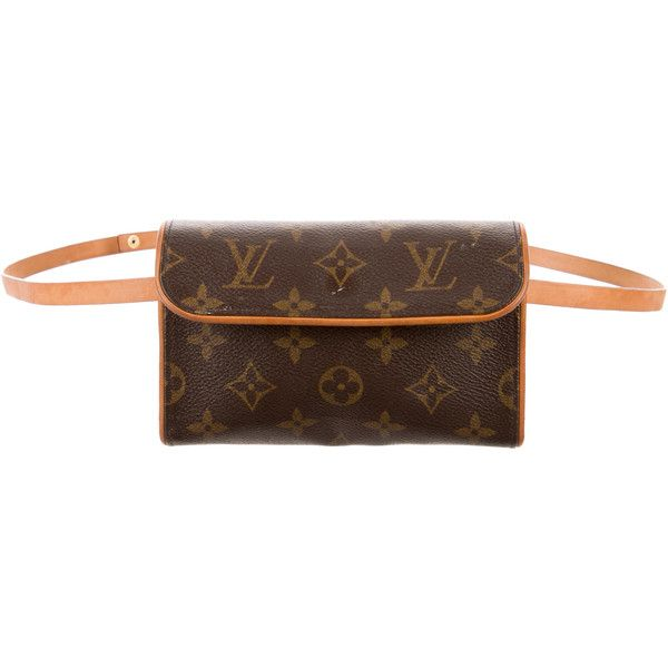 Pre-owned Louis Vuitton Monogram Pochette Florentine ($325) ❤ liked on Polyvore featuring bags, handbags, louis vuitton bags, coated canvas handbags, purse bag, brown hand bags and louis vuitton