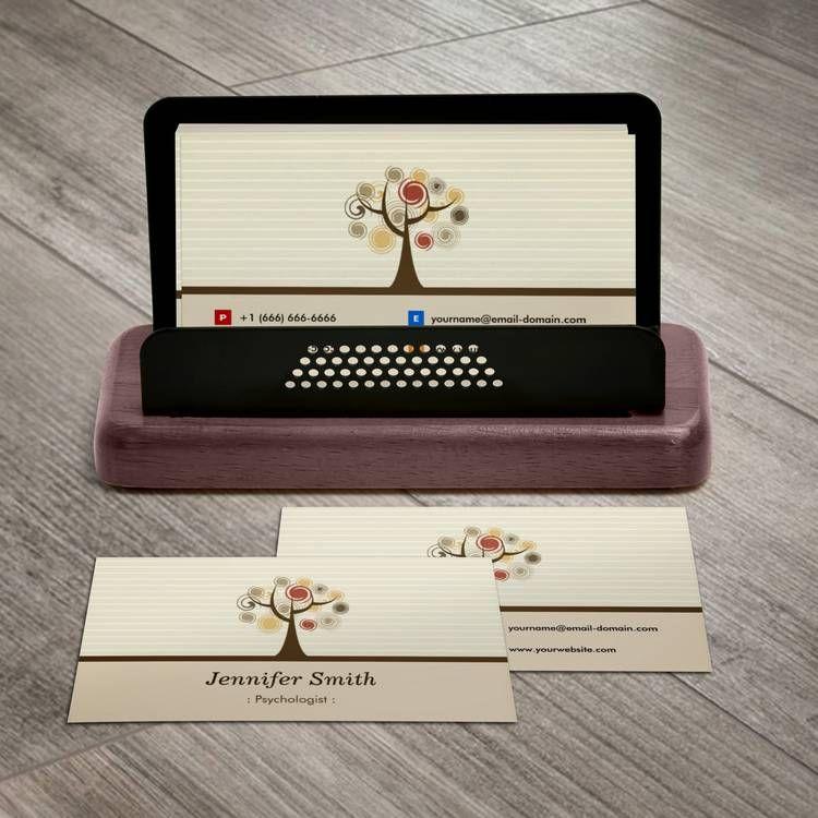 Psychologist - Elegant Natural Theme Business Card   Pinterest ...