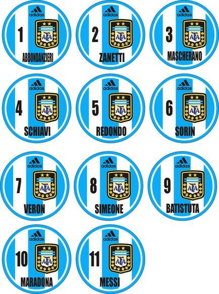Time+de+botão+Seleção+da+Argentina++++São+10+botões+de+acrílico+torneado. 2805373796882