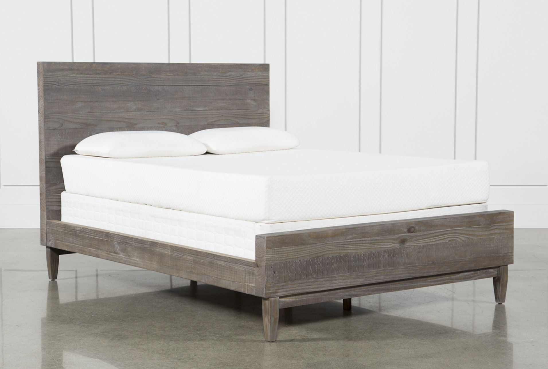 Queen platform bed ashton brown platform beds living spaces and