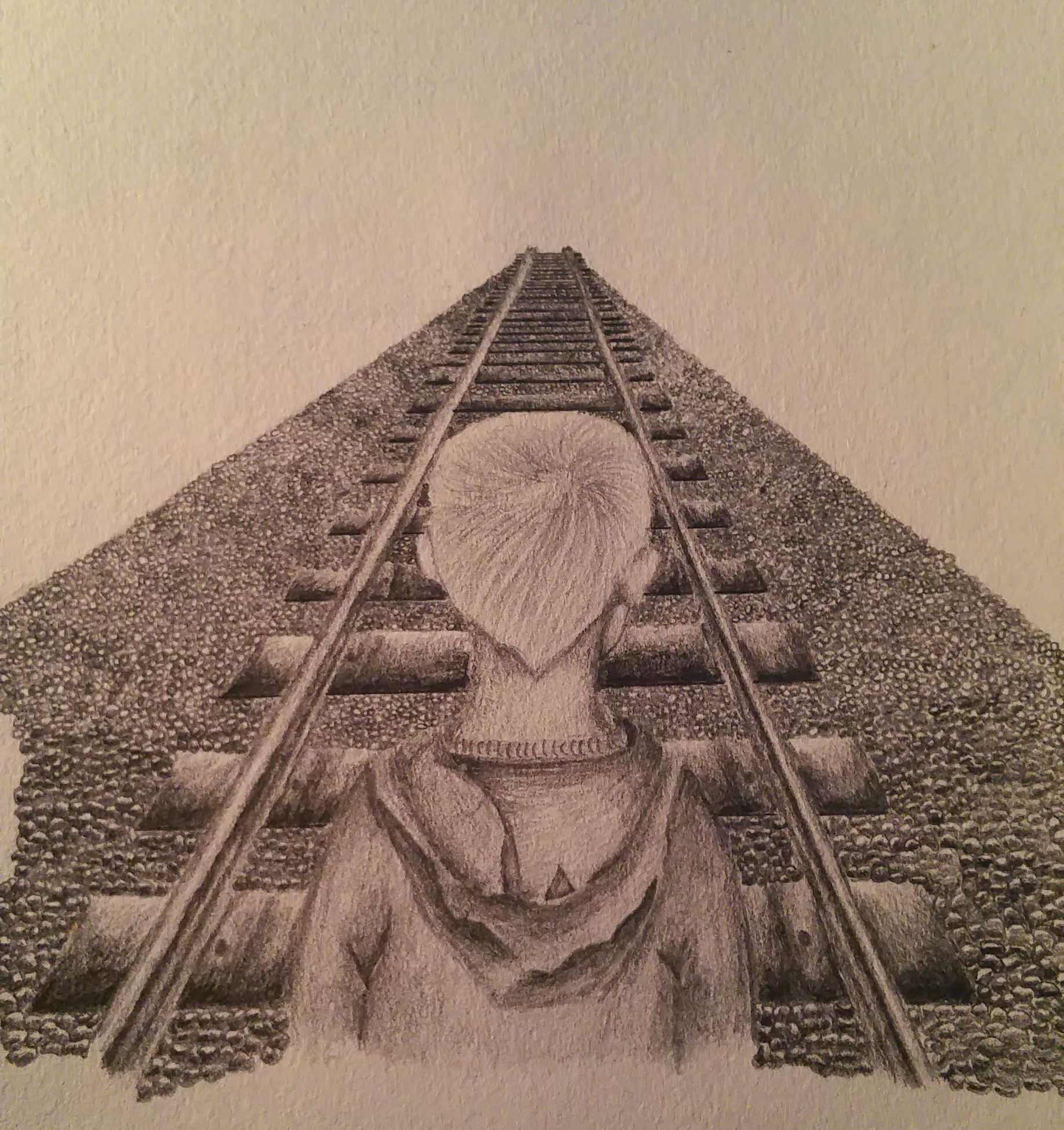 Stage 4 of my sketch railway and child complete theme orphans arts sketch pencil railway pennyappeal orphan competition artcompetition child