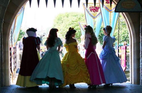 Snow White, Ariel, Belle, Princess Aurora and Cinderella