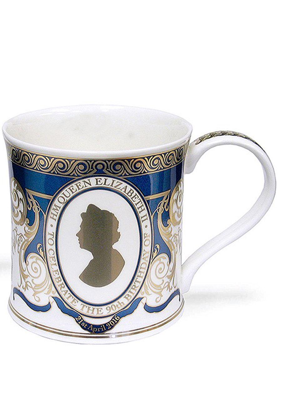 Dunoon Queen Elizabeth II 90th Birthday Commemorative 22ct Gold Mug at BBC Shop