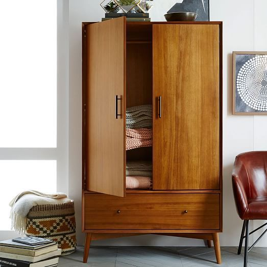 Mid Century Wardrobe Acorn West Elm Mid Century Modern Furniture Walnut Bedroom Furniture Modern Furniture