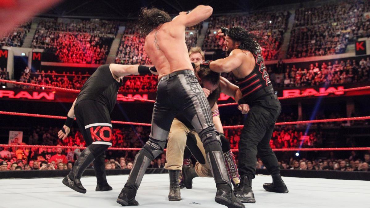 WWE Universal Champion Kevin Owens vs. United States Champion Roman Reigns vs. Seth Rollins vs. Chris Jericho vs. Braun Strowman - Fatal 5-Way Match