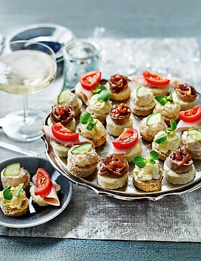 24 mini topped canap platter from m s barbara wedding for Canape ideas for weddings