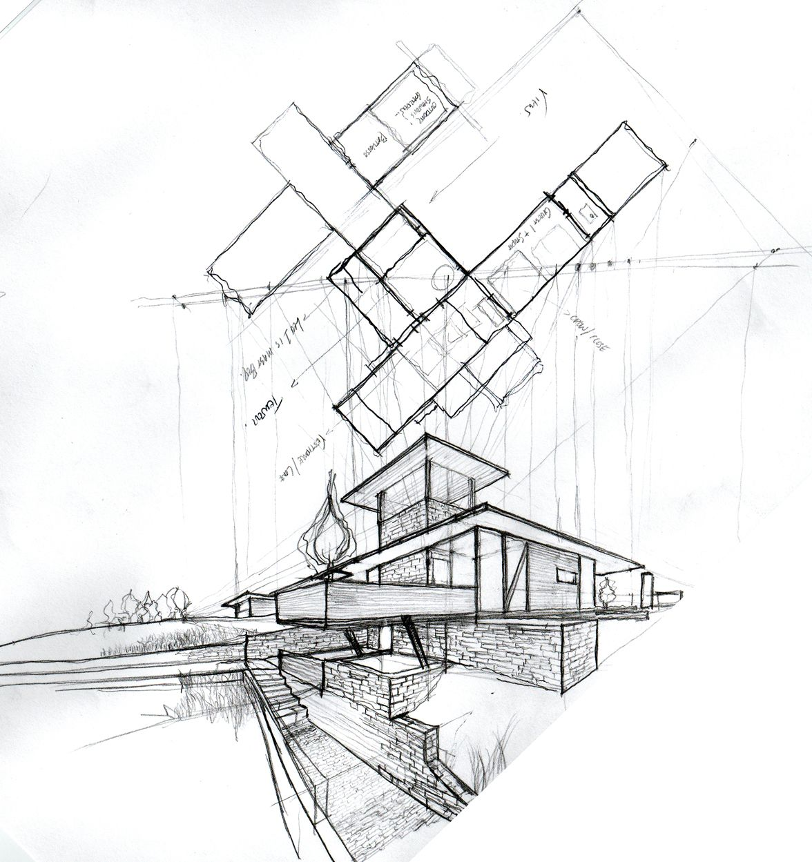 Architecture houses sketch 19846 hd wallpapers in for Print architectural drawings