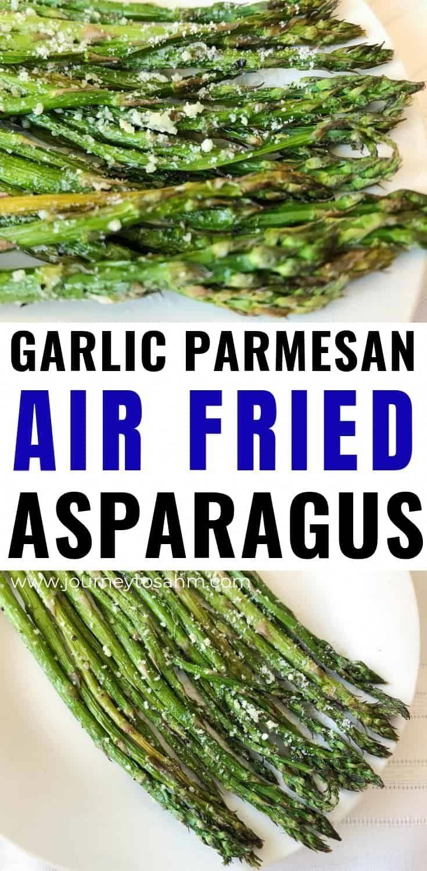 Air Fried Asparagus with Garlic and Parmesan | Keto Friendly