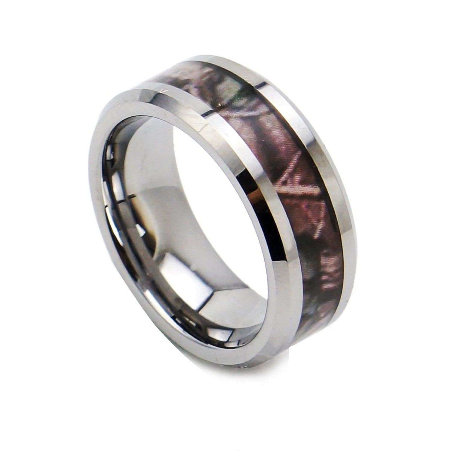 king will 8mm camouflage tungsten ring black camo hunting outdoor