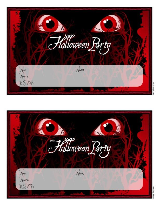 Fantasy Jr. | Scary Monster Eyes Halloween Party Invitations to ...