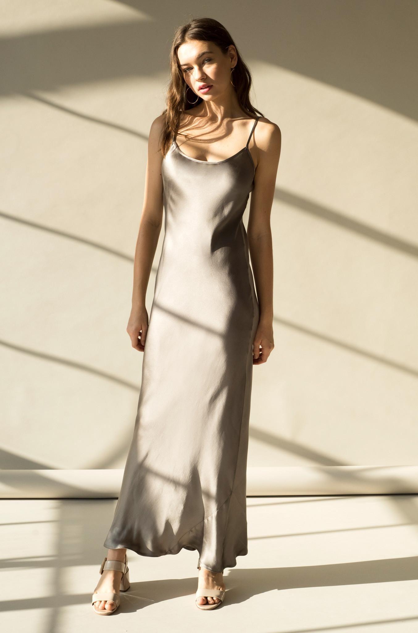 e6e4ebbdd50 AdoreWe - Gia GIA SLIP DRESS - STONE SILK - AdoreWe.com