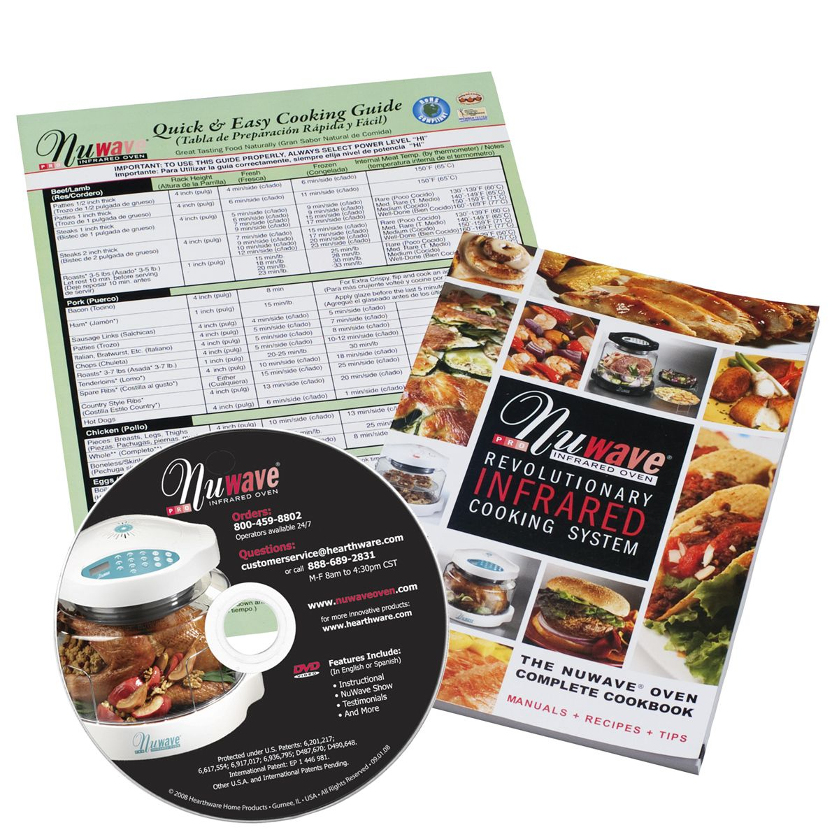 "Every NuWave Oven comes with the Quick and Easy Cooking Guide, the ""NuWave  Complete Cookbook"" and an instructional DVD. It is everything you need to  get ..."
