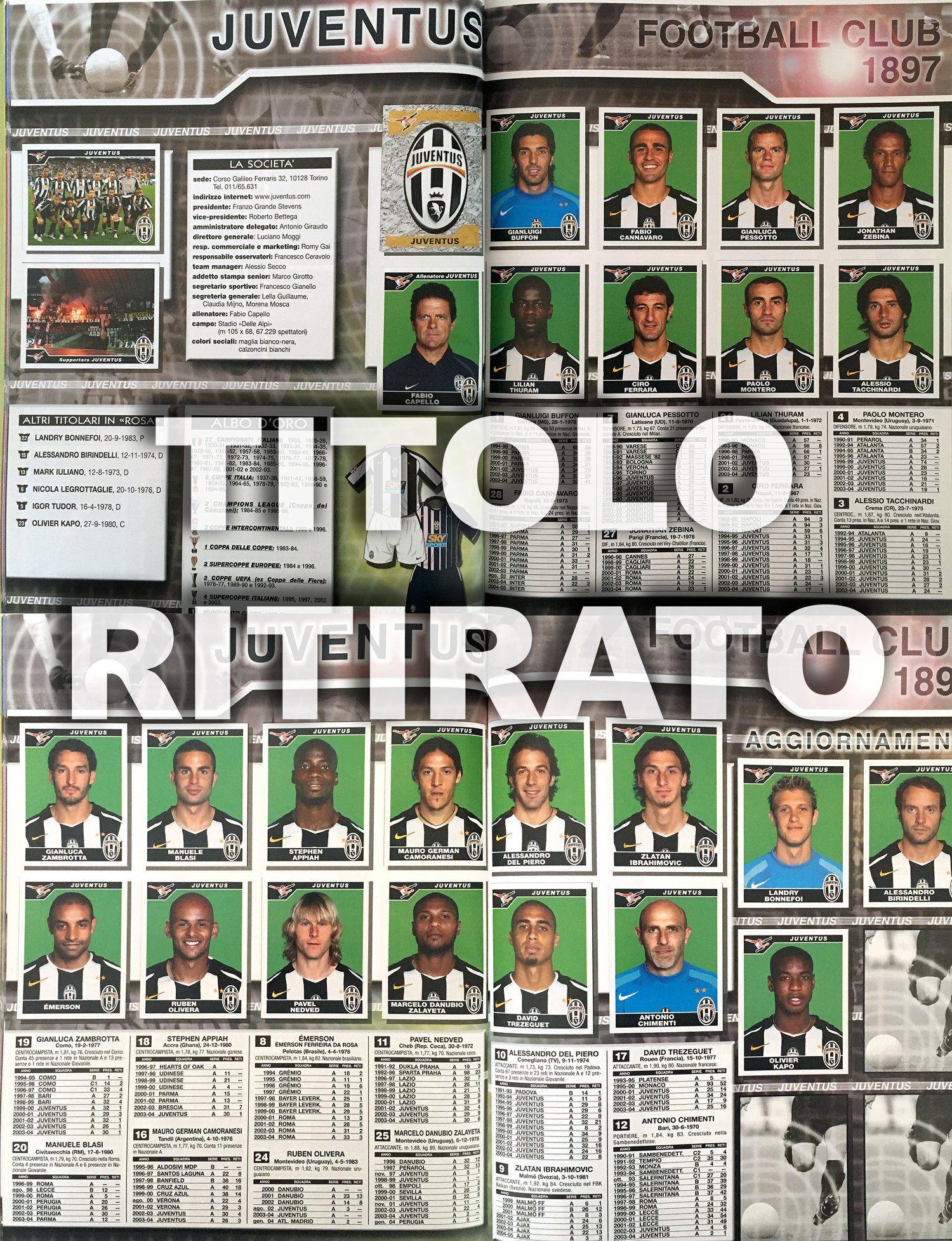 FIGURINE CALCIATORI PANINI 2004-05 SQUADRA BOLOGNA CALCIO FOOTBALL SOCCER ALBUM
