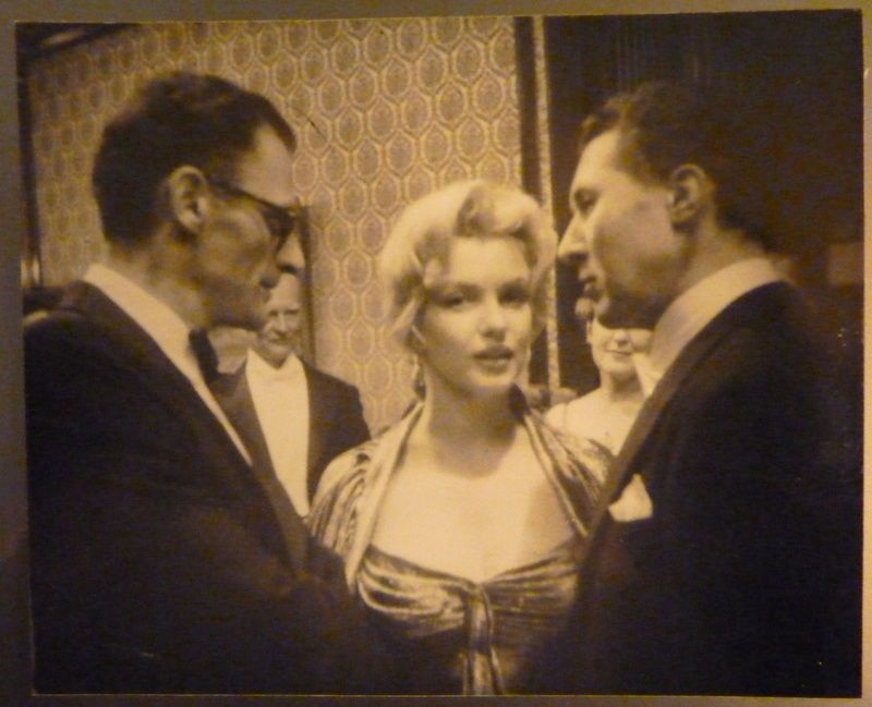 Marilyn And Arthur Miller At The Royal Command Performance Of The