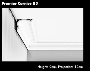 Premier Cornice 83 You can use standard cornice to build a