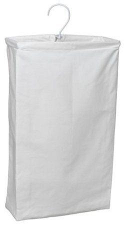 Household Essentials Doorknob Hanging Cotton Canvas Laundry Bag