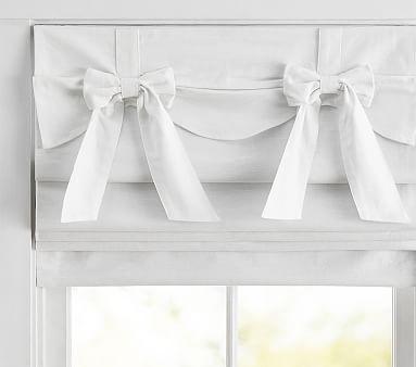 One POTTERY BARN KIDS Linen RIBBON TIE Curtain Drape Panel Shade OFF WHITE