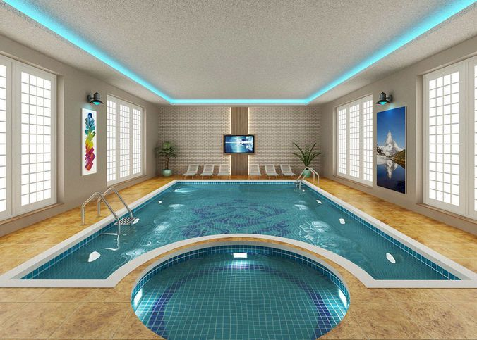 Swimming Pool 3d Model Max 1 Swimming Pools Pool Spa Pool