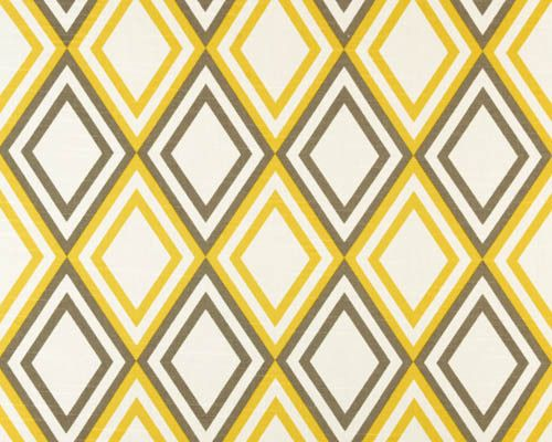 Drygoods Design — Diamonds in Grey and Yellow by Premier Prints